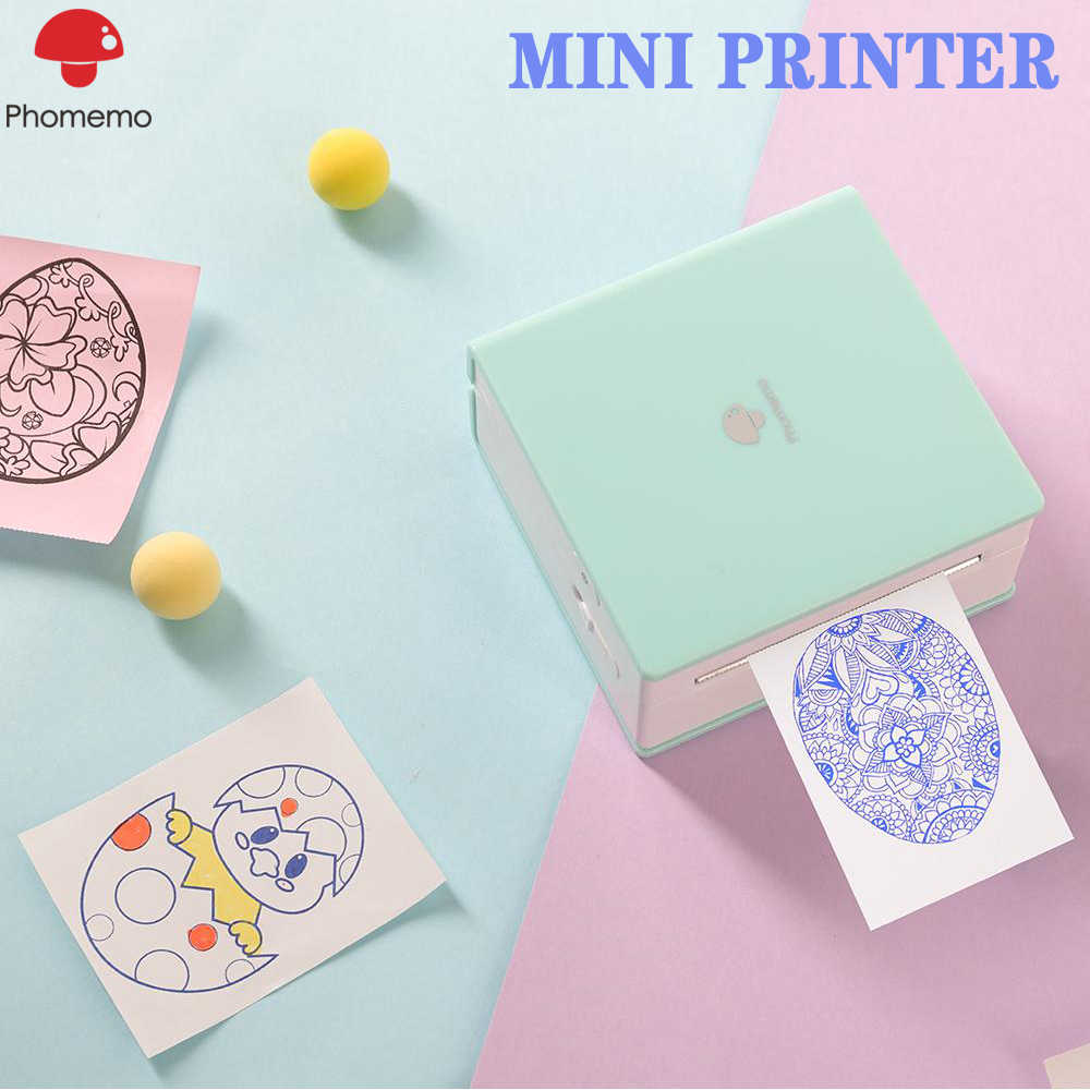 Phomemo M02 Portabel Label Printer Mini Bluetooth Thermal Printer Foto Multifungsi Saku Ponsel Stiker Printer Memobird