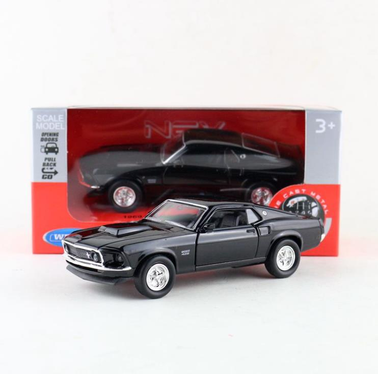 High Simulation Ford Mustang Car Model,1:36 Alloy Ford Boss 429 Classic Car Toy,original Packaging,free Shipping