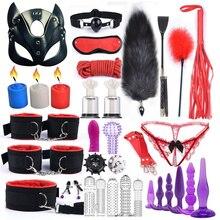 Sex Products masque en cuir pour femmes, menottes à queue de renard, fouet, bouchon Anal, vibrateur Bdsm, jeux pour adultes