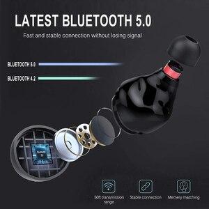 Image 3 - אמיתי אלחוטי Bluetooth אוזניות IPX8 עמיד למים אלחוטי Bluetooth אוזניות אוטומטי זיווג HD קול אוזניות 3500mAh תשלום תיבה