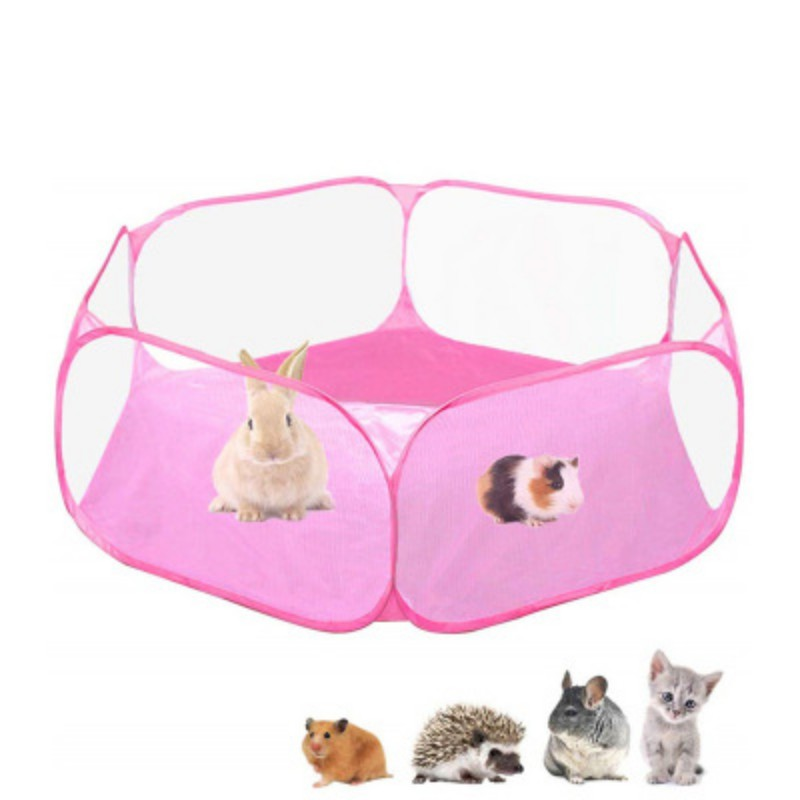 Portable Small Animal Game Fence Foldable Rabbit Hamster Cage Tent Game Fence Outdoor Indoor Exercise Pet Cage Tent