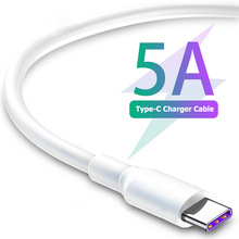 C-Cable Charging-Wire Usb-Type Mobile-Phone Xiaomi Huawei P30 Samsung S20 White 5A