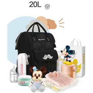 Image 5 - Disney Diaper Bag Backpack For Moms Baby Bag Maternity For Baby Care Nappy Bag Travel Stroller USB Heating Send Free 1Piar Hooks