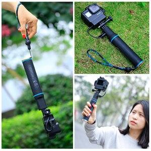 Image 4 - กีฬากล้องPower Bank Hand Grip MonopodสำหรับGoPro Hero 9 8 7 Sjcam Yi EKEN DJI Osmo Actionกระเป๋า2เครื่องชาร์จแบตเตอรี่Handle