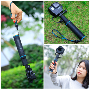 Image 4 - Sports Camera Power Bank Hand Grip Monopod For GoPro Hero 9 8 7 Sjcam Yi EKEN DJI Osmo Action Pocket 2 Extension Charger Handle