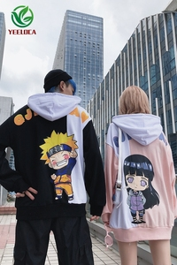 Image 5 - 2019 New Cartoon Anime Fire Shadow Couple Theme Hoodie Fashion Hip Hop Sports Men and Women Ins Loose Trend Versatile Top Naruto