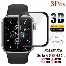 Capa completa protetor de tela para apple assistir série 6 5 se 4 3 2 1 película protetora iwatch vidro macio para apple assistir acessórios