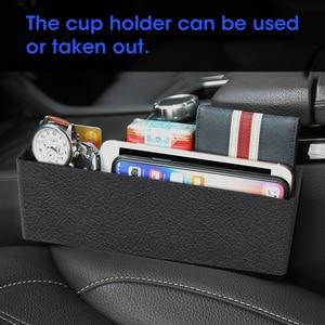 Image 3 - רכב מושב נקיק אחסון תיבת חריץ רב פונקציה ארגונית רכב מתקפל מרופד מחזיק כוס רכב פנים אביזרי רכב אחסון