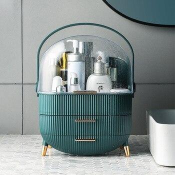 Fashion Acrylic Cosmetic Box Transparent Makeup Jewelry Drawer Home Storage Boxs Multifunctional Travel Cosmetic Organizer