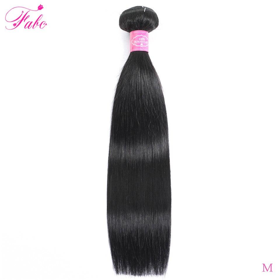 FABC  Straight Hair  Bundles 8-28 inches 100%  s Non-remy Double Weft 1/3/4Bundles Nature Color 3