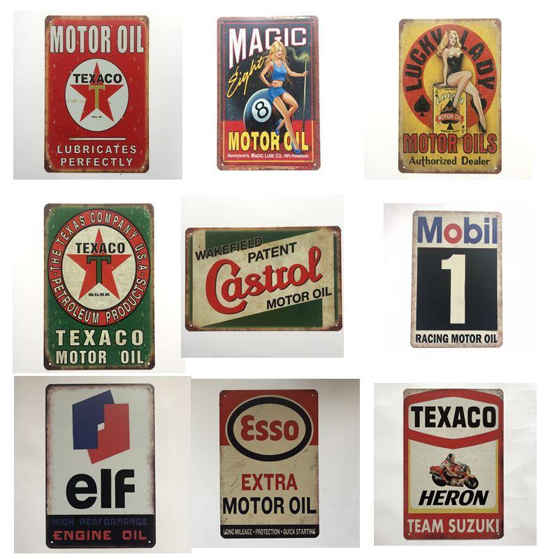 Ford Sign Wood Wall Decor Garage Truck Car Vintage Style Gas Oil Bar Pub