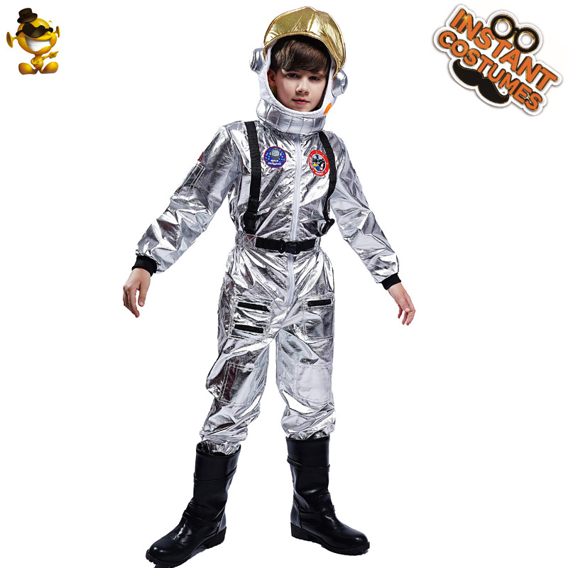 Kids Boy Astronaut Costumes Cosplay Holiday Boy's Alien Spaceman Clothes for Kids Halloween Party