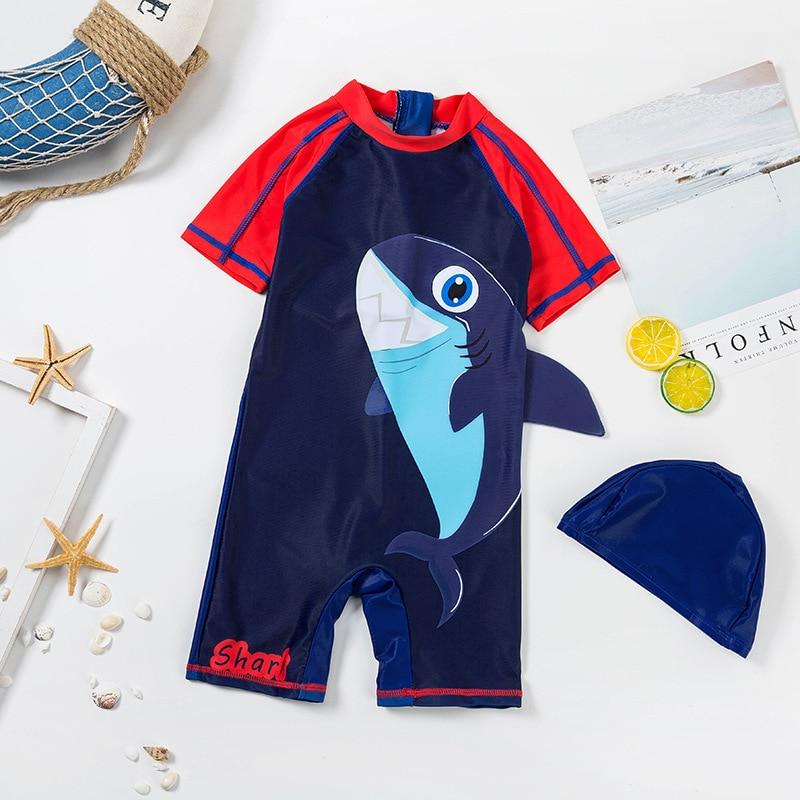INS Wind KID'S Swimwear South Korea Baby One-piece Sun-resistant Quick-Dry Tour Bathing Suit Boy BOY'S 0-3-8-Year-Old Swimwear