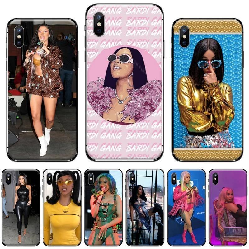 Cardi B Seksi Amerikan Rapçi Lüks Telefon Kılıfı Için Iphone 5 5s 5c Se 6 6s 7 8 Artı X Xs Xr 11 Pro Max Telefon Tamponu Aliexpress