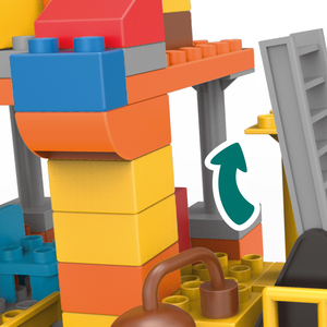 Image 5 - 183pcs גדול גודל עיר בניית DIY חופר כלי רכב Bulldoze אבני בניין סט Duploed לבני צעצועי ילדי תינוק ילדים