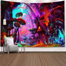 Huge Mushroom Printed Wall Hanging Tapestry Psychedelic Boho Hippie Wall Tapestry Boho Home Decor Wall Cloth Tapestries Carpet boho style pattern tapestry