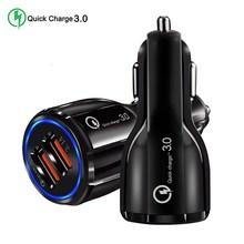 Быстрая зарядка 5 в 3,0 А 3,0 Автомобильное зарядное устройство QC 9 в 12 В 2 3 порта USB Автомобильное зарядное устройство быстрое зарядное устройство мобильный телефон дорожный адаптер Автомобильное зарядное устройство