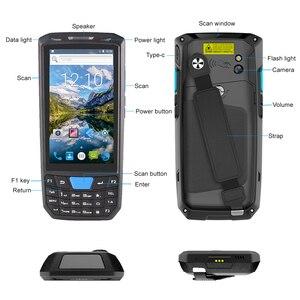 Image 3 - Escáner de código de barras PDA portátil para Android Terminal Honeywell, 1d, láser, 2d, QR, dispositivo portátil de recolección de datos con WIFI, 4G, NFC, PDA 80T
