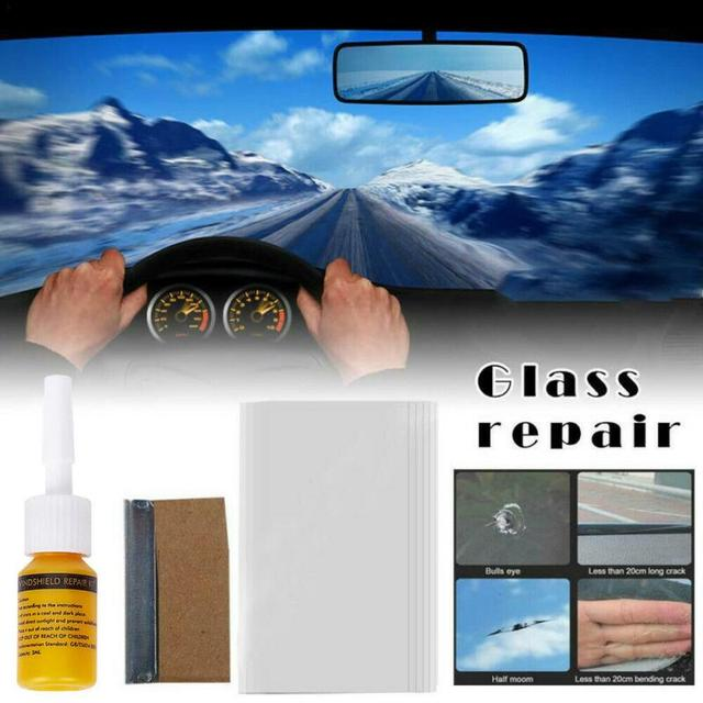 Glass Curing Glue Auto Glass Scratch Crack Restore Car Windshield Cracked Repair Tool DIY Car Window Phone Screen Repair Kit 1