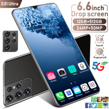Newest 2021 S31 Ultra 12+512GB SmartPhone 6.6 Inch 24+48MP Strong 10 Core Processor Face Fingerprint Dual Unlock 5G Mobile Phone