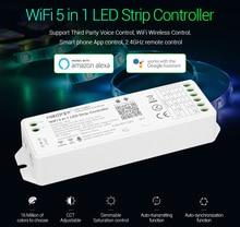 Miboxer WL5 2.4G 5 ב 1 WiFi LED יחיד צבע CCT RGB RGBW RGB + CCT LED רצועת תמיכת אמזון Alexa קול שליטה