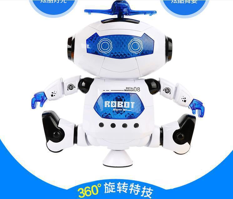 Hot Sales Space Electric Dancing Smart Robot Toy Dancer 360-Degree Rotating Light And Sound