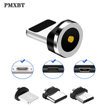 Round Magnetic Cable plug Micro USB / Type C 8 Pin Adapter(Only Plug)Magnet Cabo Connector Dust Plugs
