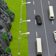 100pc 1:200 Scale Street Light For Landscape Train Model Architectural Scenery LED 5cm Diorama Toys