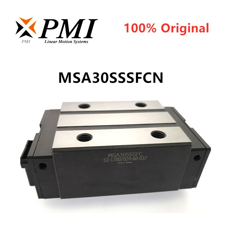 100% Original Taiwan PMI MSA30S MSA30SSSFC N Linear Guideway Slide Block Carriage For CO2 Laser Machine CNC Router MSA30S-N