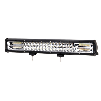 20Inch White & Amber Flash 288W Triple Row LED Light Bar Combo for Off Road Trucks Boat SUV ATV 4WD CAR Strobe LED Bar