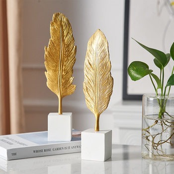 Creative Modern Golden Leaf Ornament 2