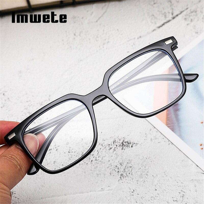 Imwete Classic Anti Blue Light Glasses Frame Women Men Goggle Light Blocking Glasses Transparent Optical Eyewear Frames