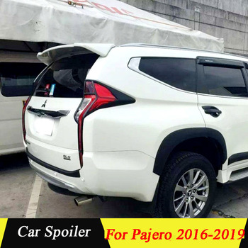For mitsubishi pajero sport 2017 ABS Plastic Rear Trunk Wing Spoiler For Mitsubishi Pajero Spoiler 2016 2017 2018 2019 carbon fiber rear trunk wings m4 spoiler for bmw 4 series f36 420i 428i 435i gran coupe 4 door 2013 gloss black spoiler wing