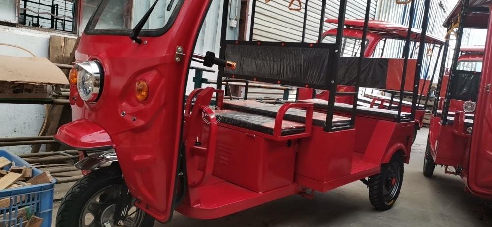 رائجة البيع 3 عجلات سيارة دراجة ثلاثية العجلات الكهربائية للبالغين عربة الأحمر توك توك سيارة مع لوحة طاقة شمسية شحن مجاني ماكينة المطبخ Aliexpress