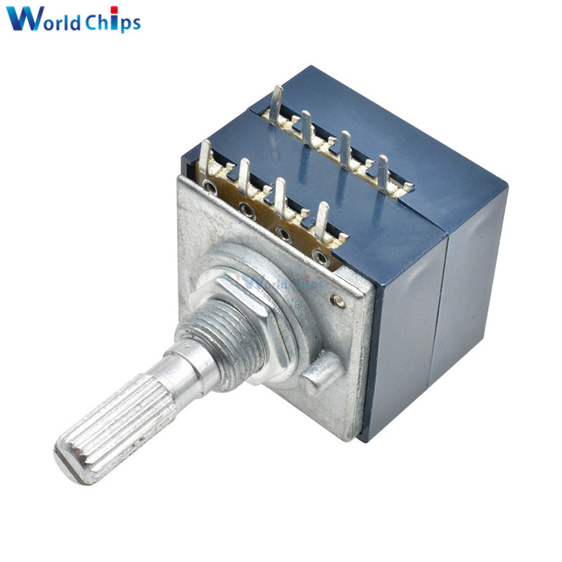 Поворотный потенциометр 50K 100K LOG ALPS RH2702 аудио регулятор громкости горшок стерео W громкость динамик потенциометр громкости усилителя