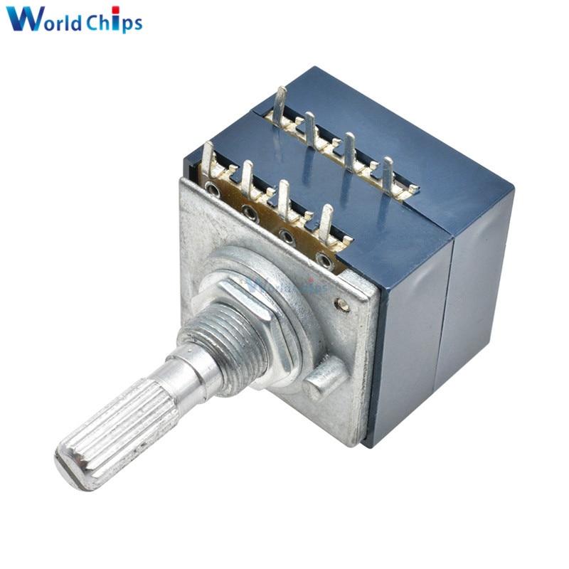 1PCS Potentiometer 50K Log ALPS Audio Amp Volume Control Pot Stereo W Loudness L