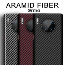Grma vraie couverture arrière de téléphone en Fiber de carbone pur pour HUAWEI P40 P30 Mate 30 Pro étui Ultra mince Anti chute antichoc couverture de téléphone