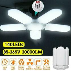 85W E27 Indoor Deformable Folding Fan Blade LED Work Light AC85-265V Folding Garage Lamp 360 Degree Adjustable Ceiling Lamp