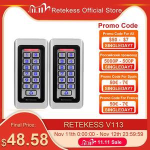 Image 1 - 2pcs RETEKESS T AC03 לוח מקשים RFID בקרת גישה מערכת קרבה כרטיס עצמאי 2000 דלת בקרת גישה עמיד למים מקרה