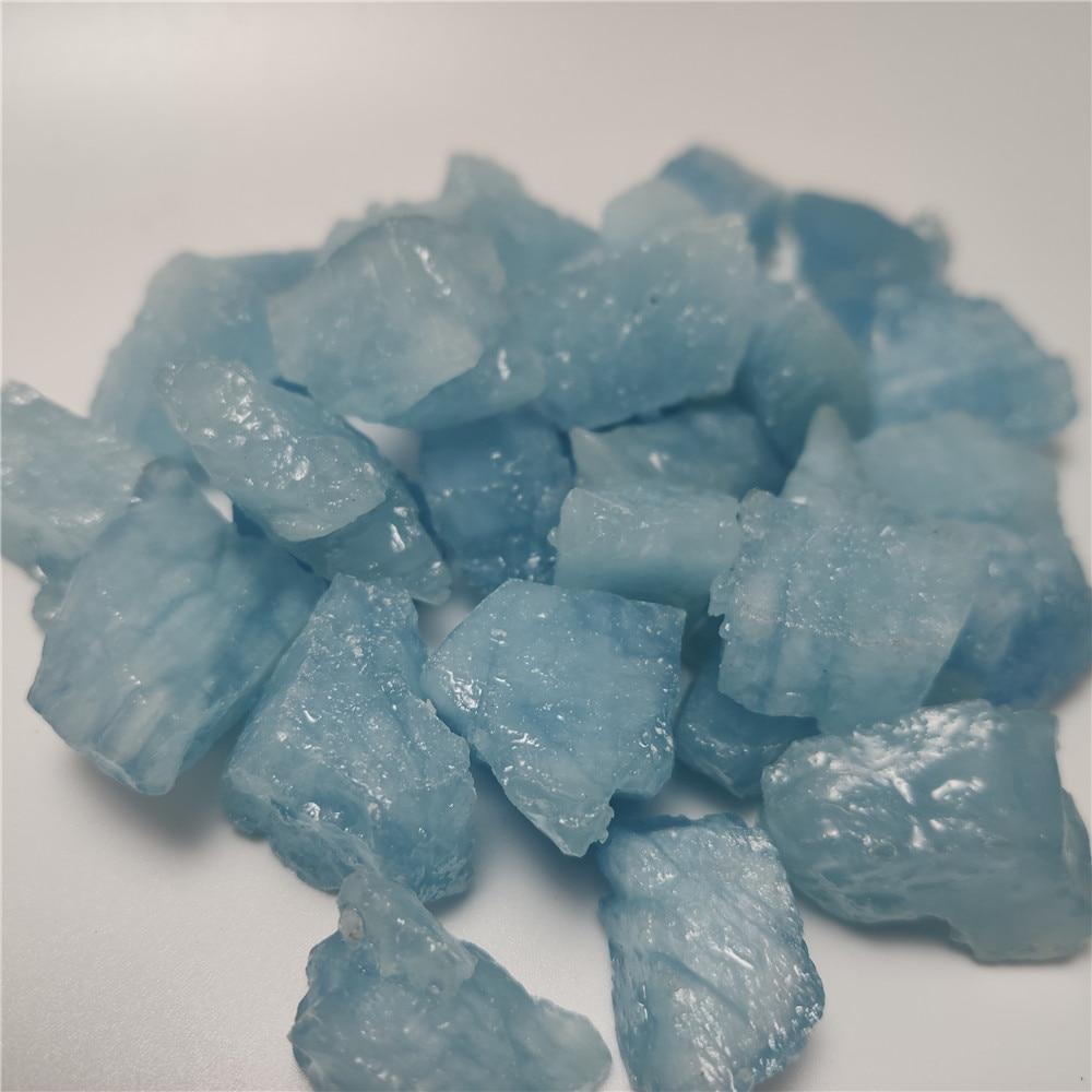 8-30mm Natural Aquamarine Quartz Beryl Gemstone Crystal Stone Mineral Specimen Hand-carved Materials For Jewellery Making