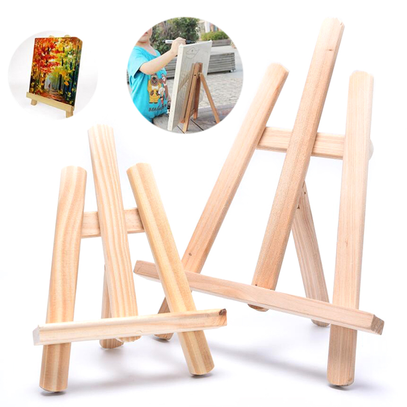 Wooden Drawing Easel Tablet Phone Stand Frame Painting Art Tripod Display Shelf Painting Easel