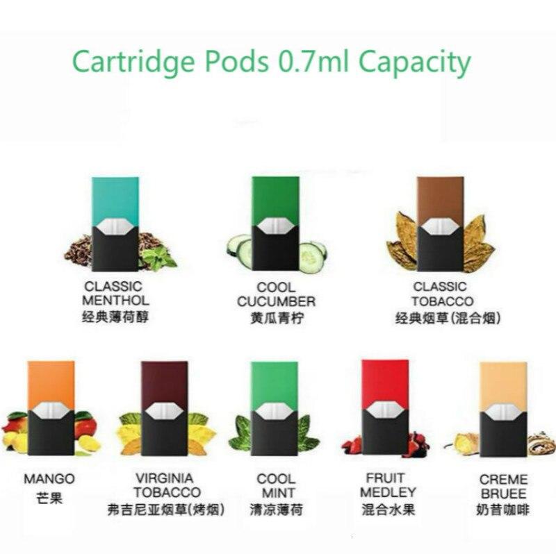 20Pcs Electronic Cigarettes Vape Cartridge Pods 0.7ml Capacity E Cigs Pod For E Cigarette Vape Pod Battery Device Starter Kits