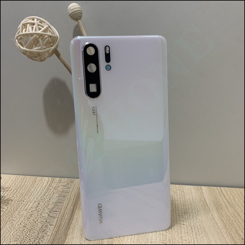 For P30 Pro Original Tempered Glass Back Cover Spare Parts For Huawei P30 Pro Back Battery Cover Door Housing + Camera frame