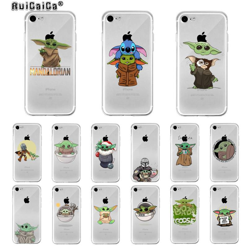 Ruicaica Cute Baby Yoda Stitch Custom Photo Soft Phone Case For Iphone 11 Pro Xs Max 8 7 6 6s Plus X 5 5s Se Xr Cover Half Wrapped Cases Aliexpress