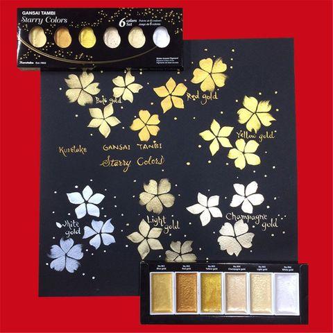 solido tintas metalico ouro aquarela pigmento para desenho arte suprimentos h7ec
