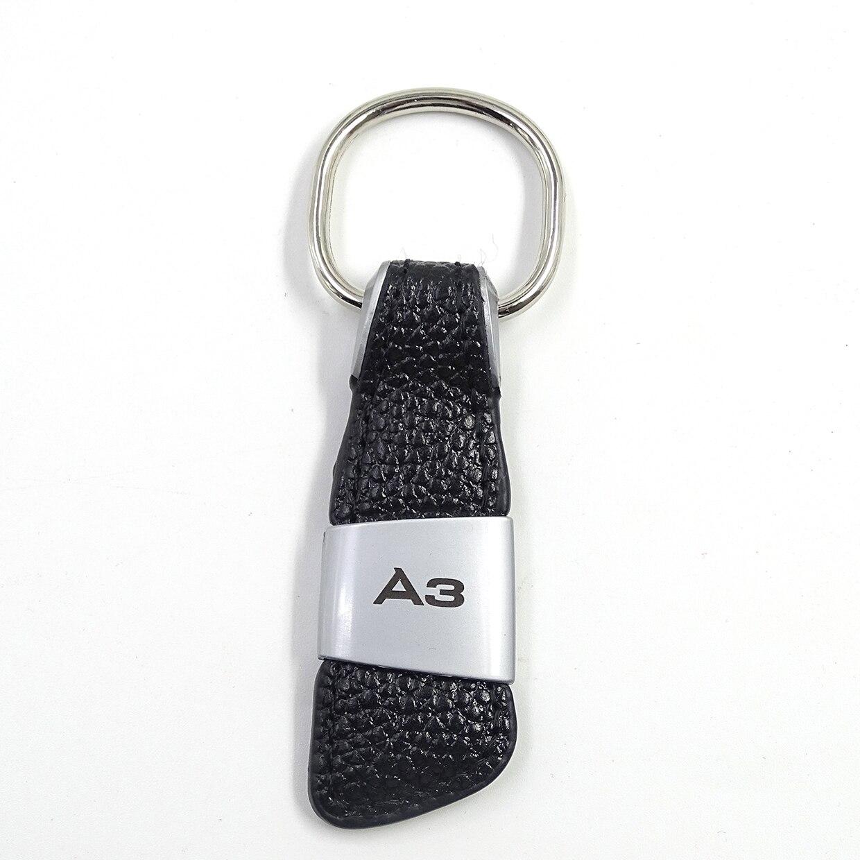 Автомобильная эмблема, значок из натуральной кожи, брелок для Audi A1 A3 A4 A5 A6 A8 TT Q2 Q3 Q5 Q7 Q8, брелок для ключей, автомобильный стиль - Название цвета: 1pcs A3