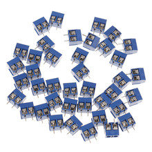 10Pcs 2-Pin Pitch Sekrup Terminal Blok Konektor 5.08 Mm Panel PCB Gunung Grosir Biru(China)