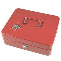 Mini pode ser dobrado plano você pode levá lo para todos os lugares facilmente mini caixa de dinheiro preto vermelho com caixa de dinheiro de bloqueio|Cofres| |  -