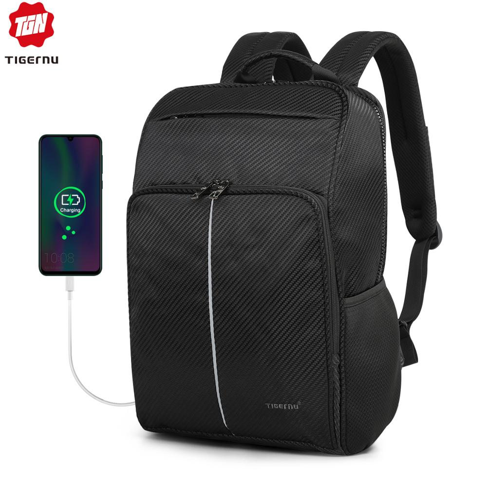 Tigernu 2019 New Classic Backpack Men High Quality Waterproof 15.6 Inch Anti Theft Laptop Backpack Fashion With 4.0 USB Charging