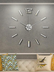 Stickers Clock Mirror Bedroom Acrylic Living-Room Home-Decor 3D Modern-Design Large Silent